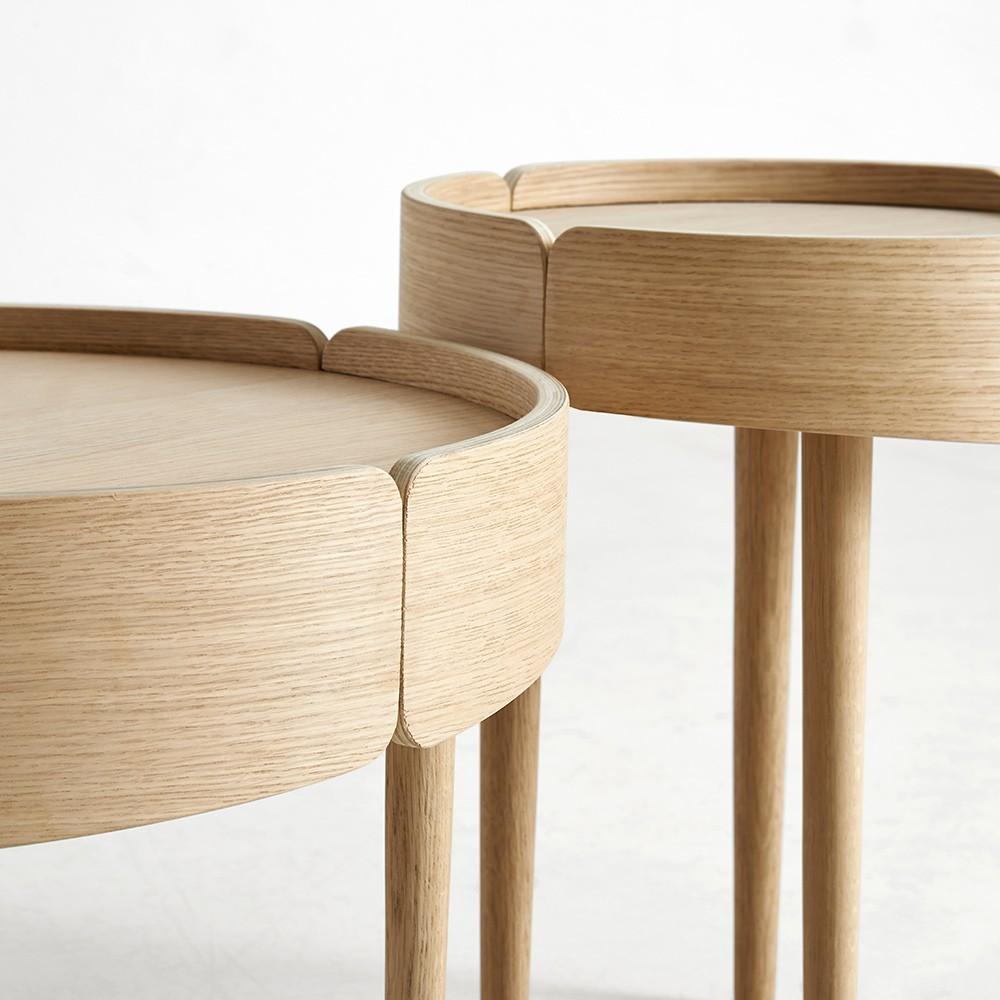 Skirt coffee table natural Woud