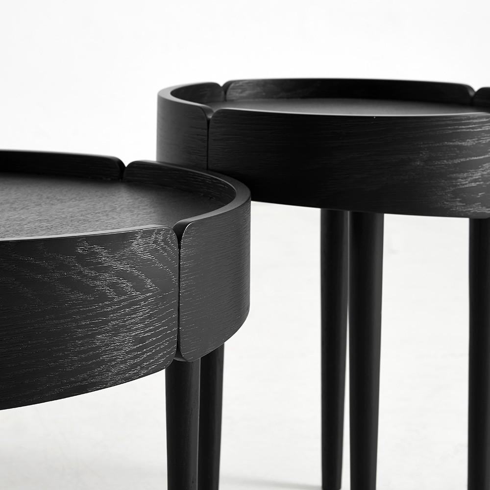 Skirt coffee table black Woud