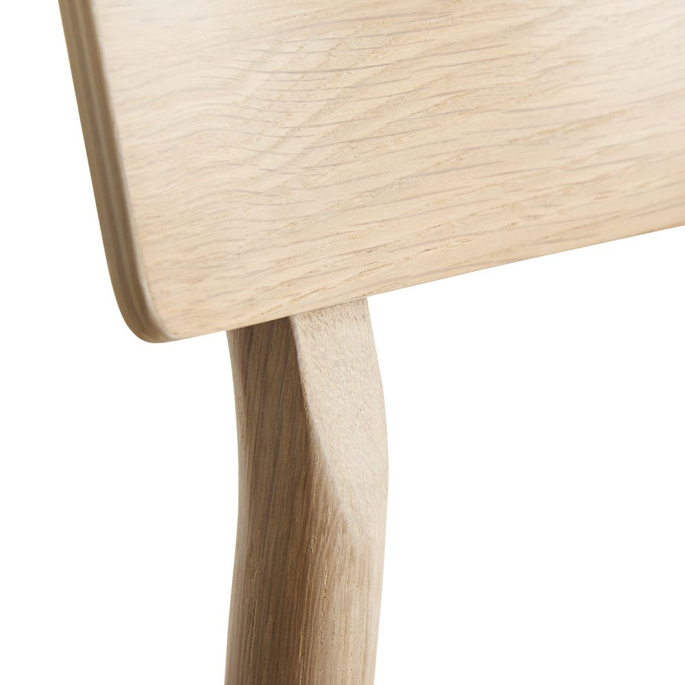 Pause dining chair 2.0 white pigmented lacquer oak Woud