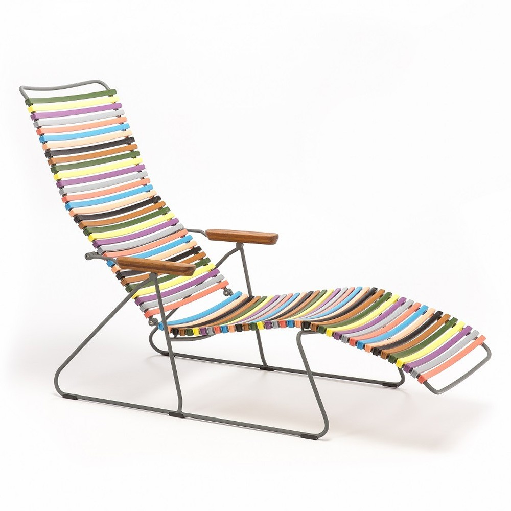 Chaise longue Click multicolore 1 Houe