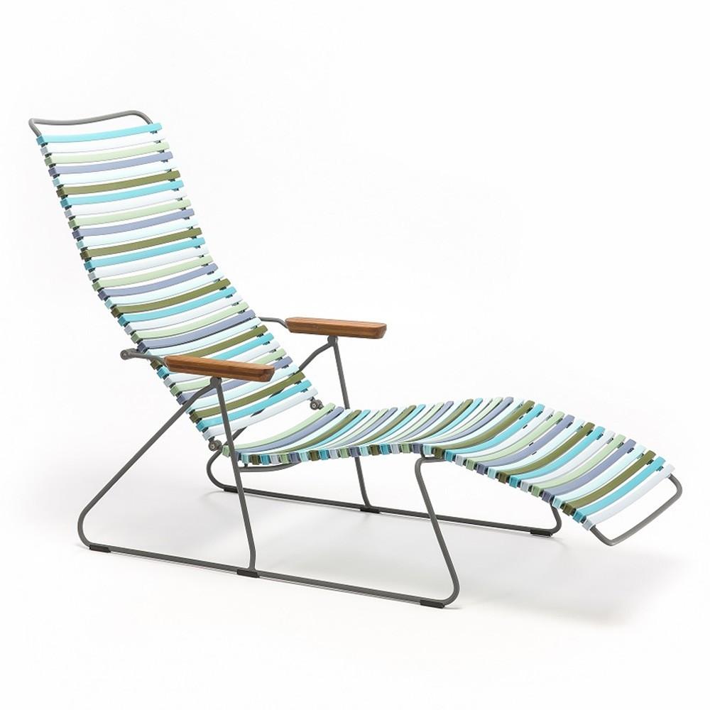 Chaise longue Click multicolore 2 Houe