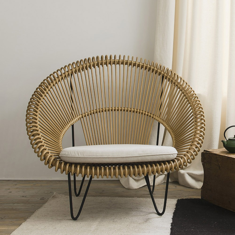Cruz Cocoon natural armchair Vincent Sheppard