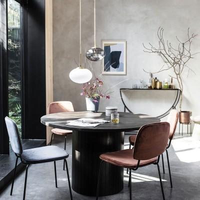 Pillar dining table black House Doctor