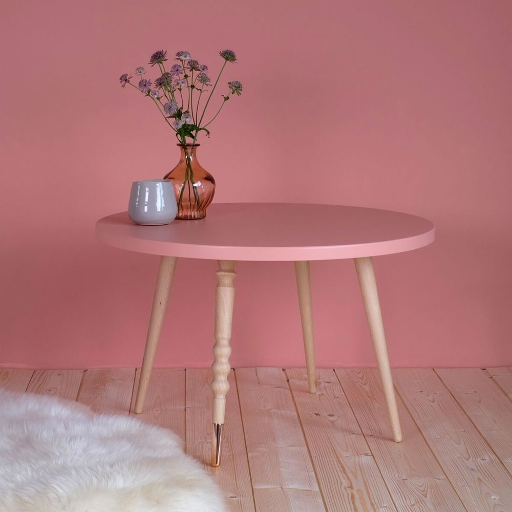 Round coffee table My lovely ballerine white & beech M Jungle by Jungle