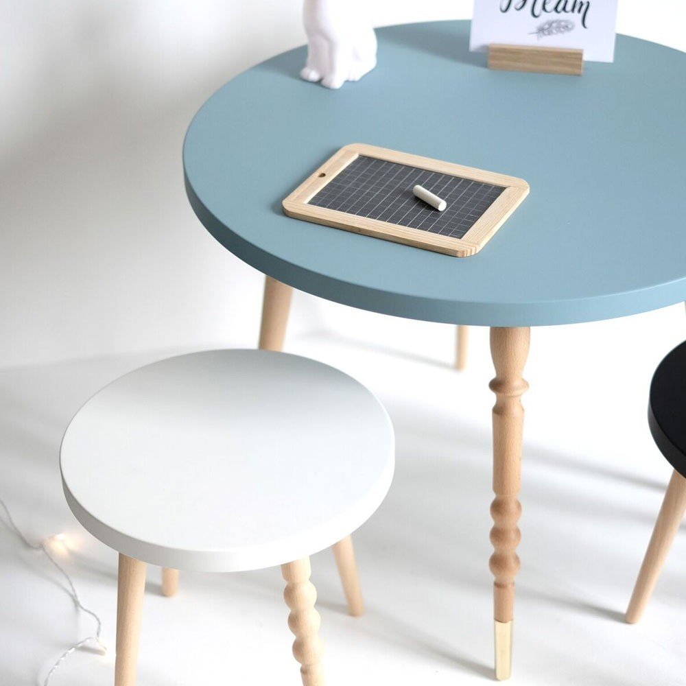 Table basse ronde My lovely ballerine blanc & hêtre L Jungle by Jungle