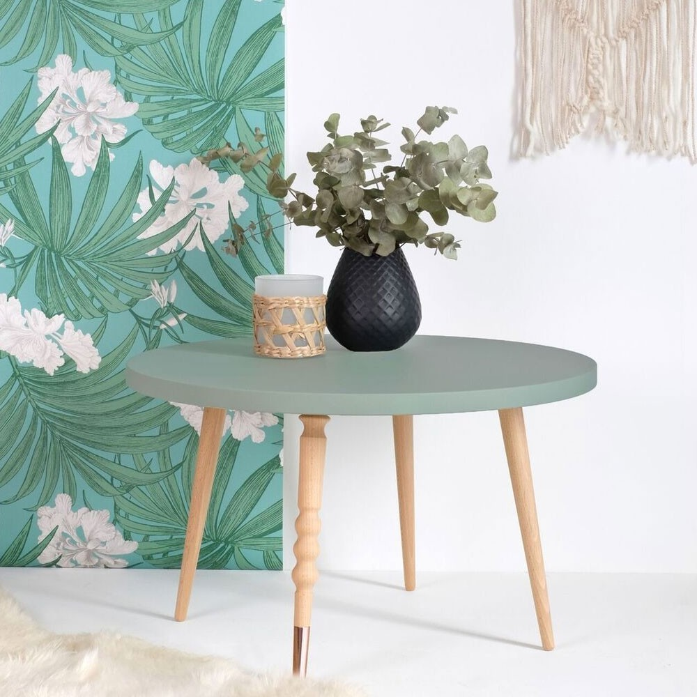 Round coffee table My lovely ballerine white & walnut M Jungle by Jungle