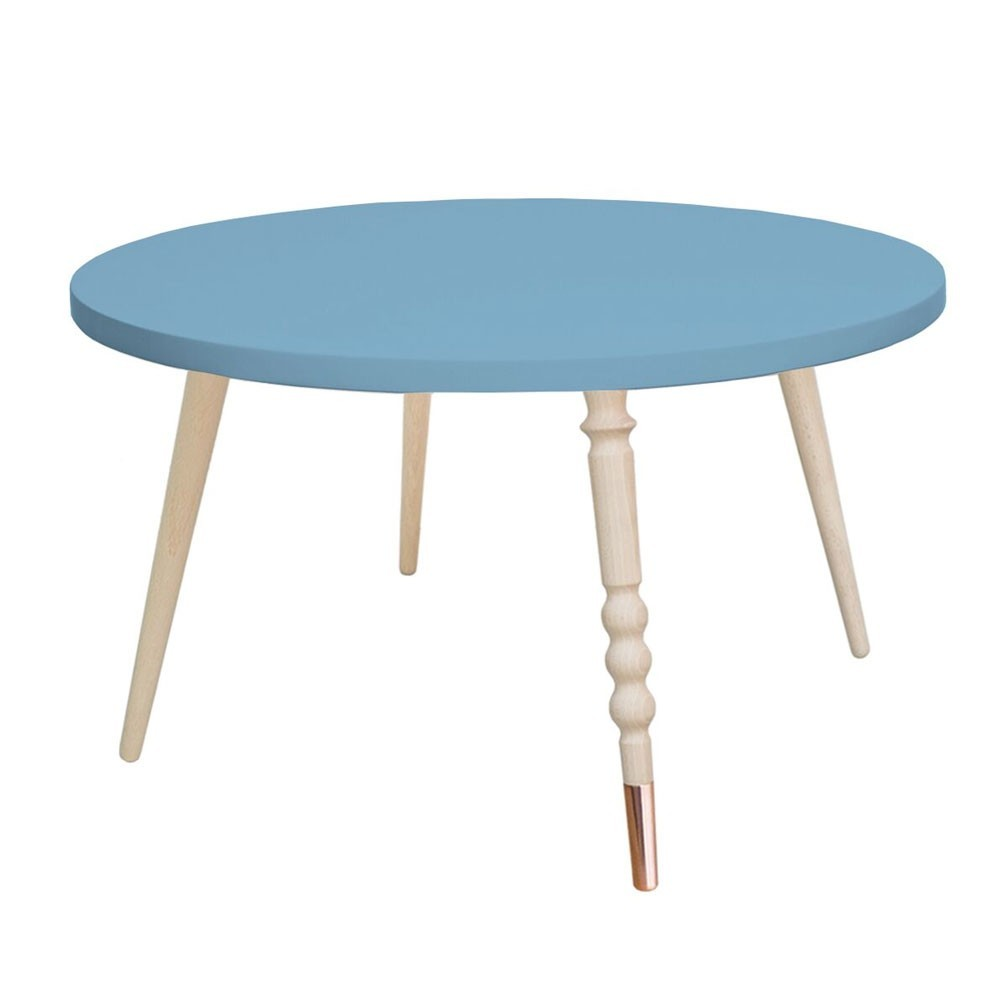 Round coffee table My lovely ballerine blue & beech M Jungle by Jungle