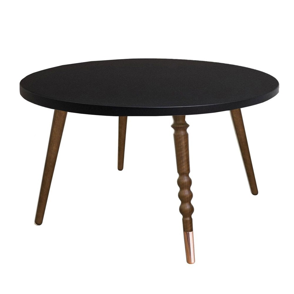 Round coffee table My lovely ballerine black & walnut M Jungle by Jungle