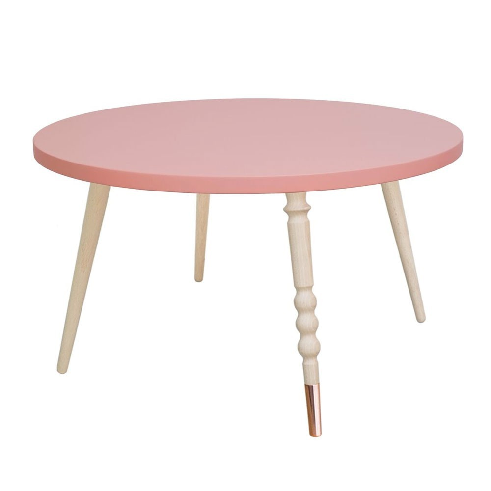 Round coffee table My lovely ballerine pink & beech M Jungle by Jungle