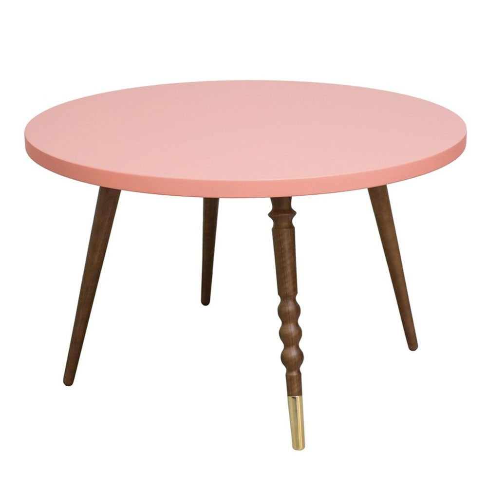 Round coffee table My lovely ballerine pink & walnut M Jungle by Jungle