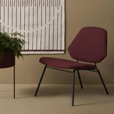 Lean bordeauxrode fauteuil Woud