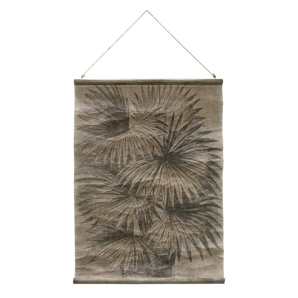 Vintage wall chart palm leaves HKliving