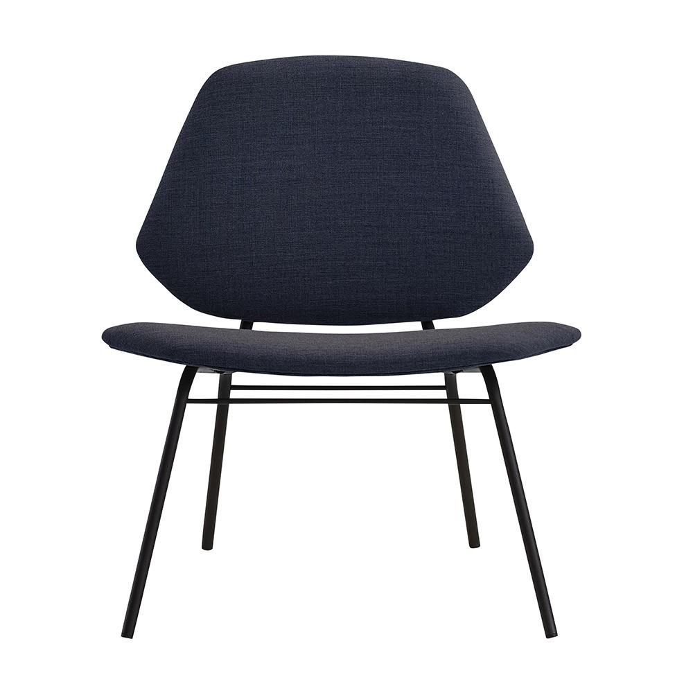 Lounge chair Lean dark blue Woud