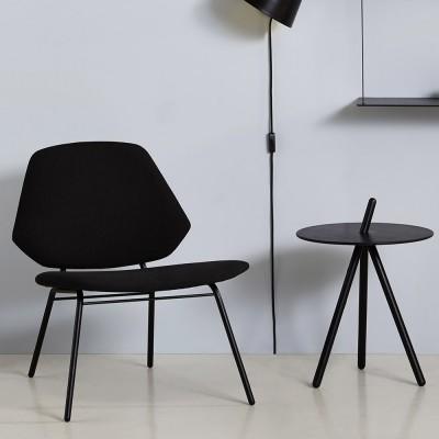 Lean fauteuil zwart Woud