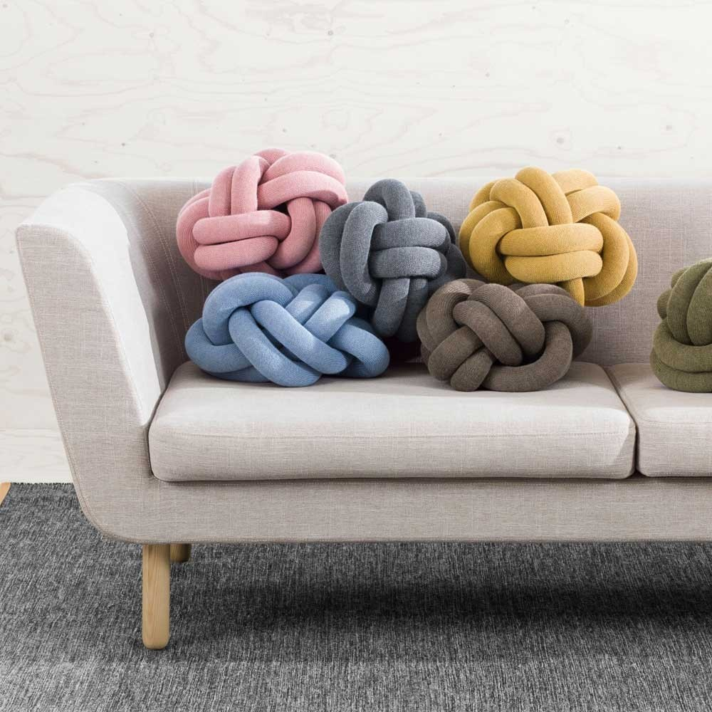 Knot pink cushion Design House Stockholm