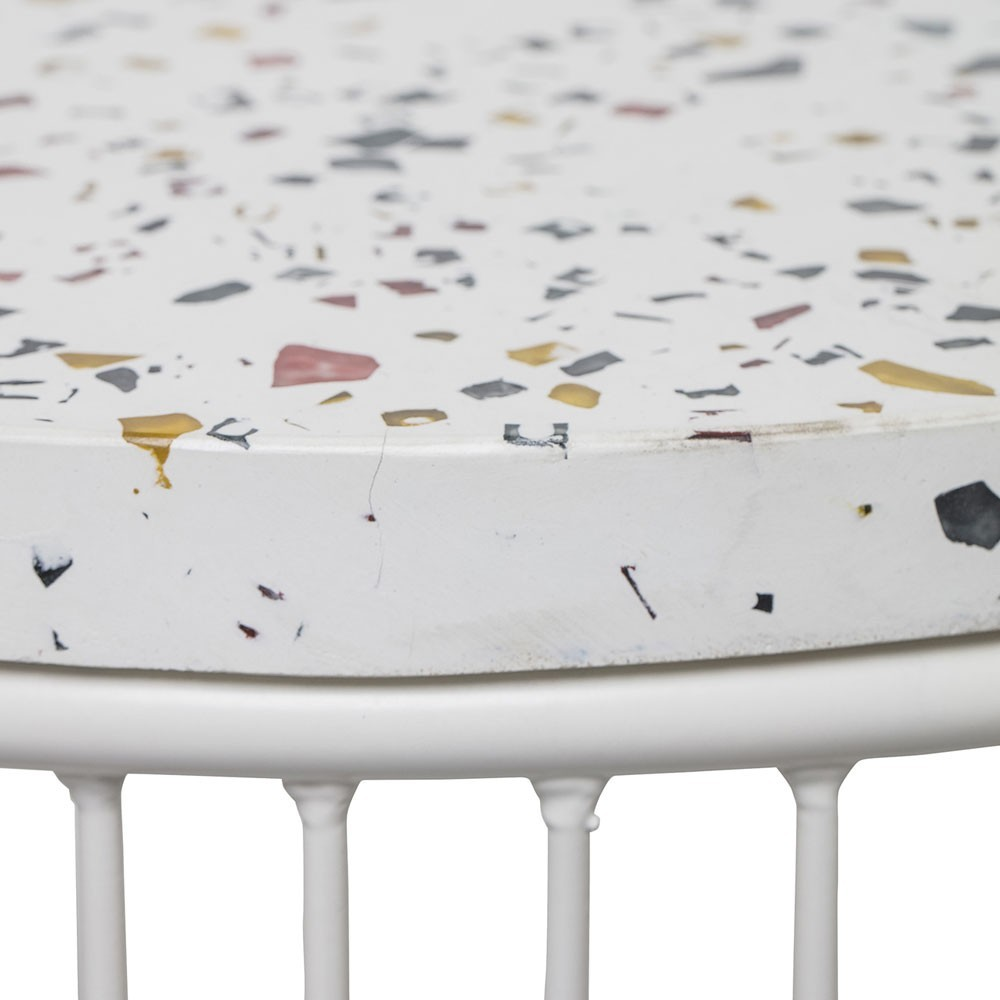 Table d'appoint Cap terrazzo blanc Bloomingville