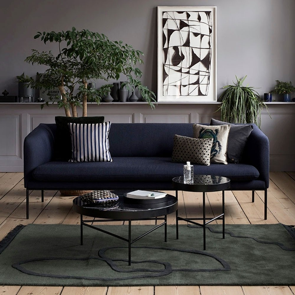 Marble coffee table black L Ferm Living