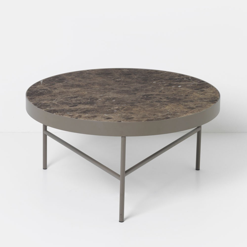 Marble coffee table brown L Ferm Living