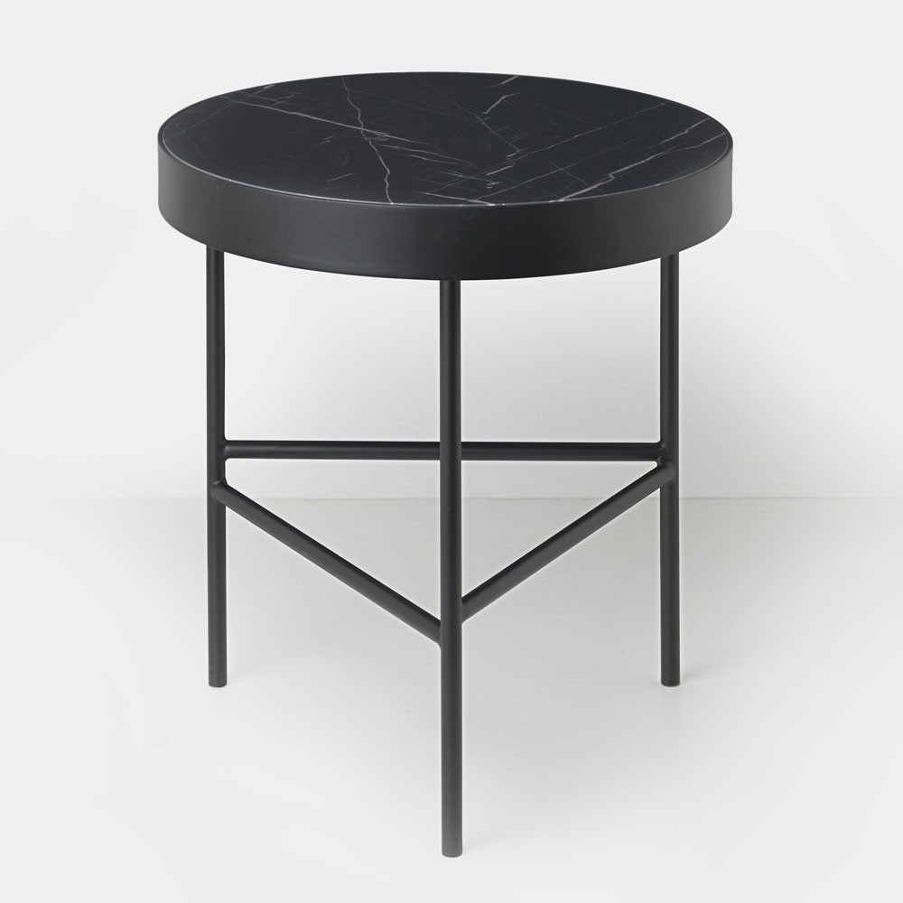 Marble coffee table black marquina M Ferm Living