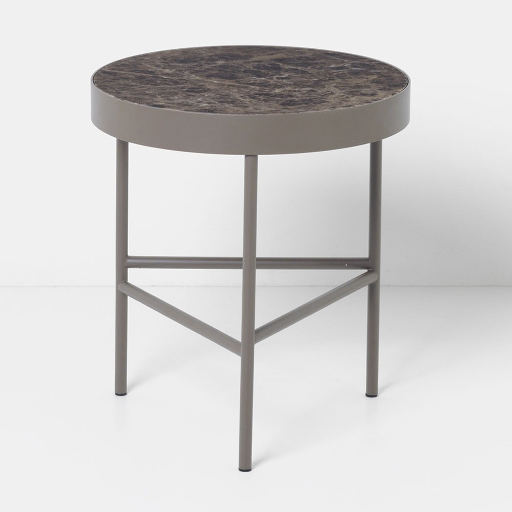 Marble coffee table brown M Ferm Living