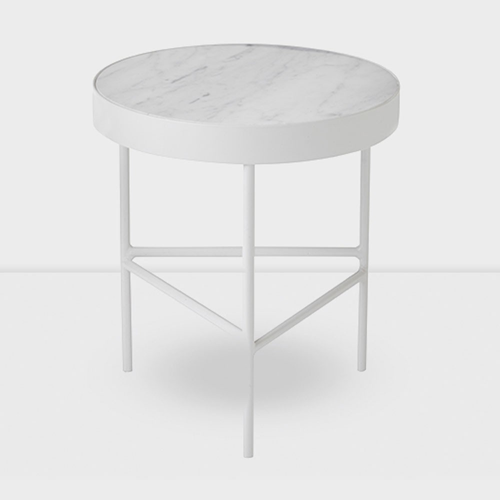 Marble coffee table white M Ferm Living