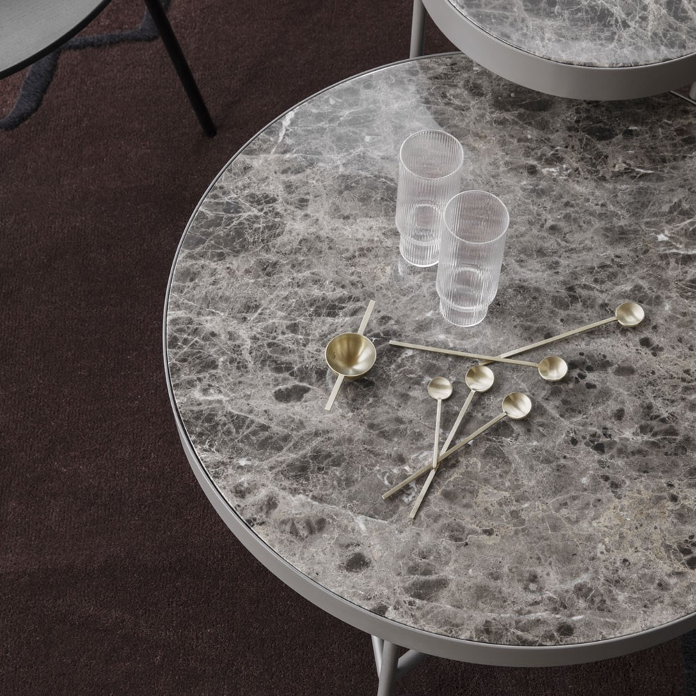 Marmeren salontafel wit M Ferm Living