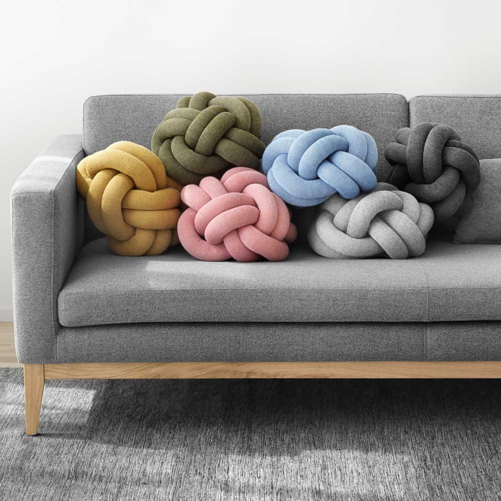 Knot yellow cushion Design House Stockholm