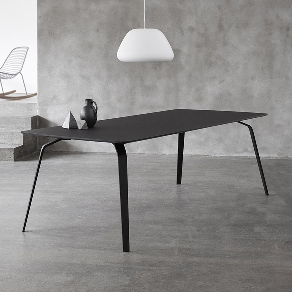Float dining table ash gray Houe