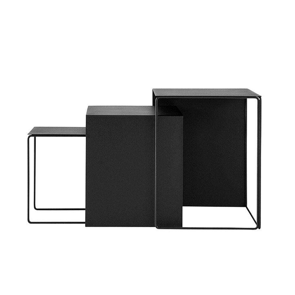 Lot de 3 tables basses Cluster noir Ferm Living