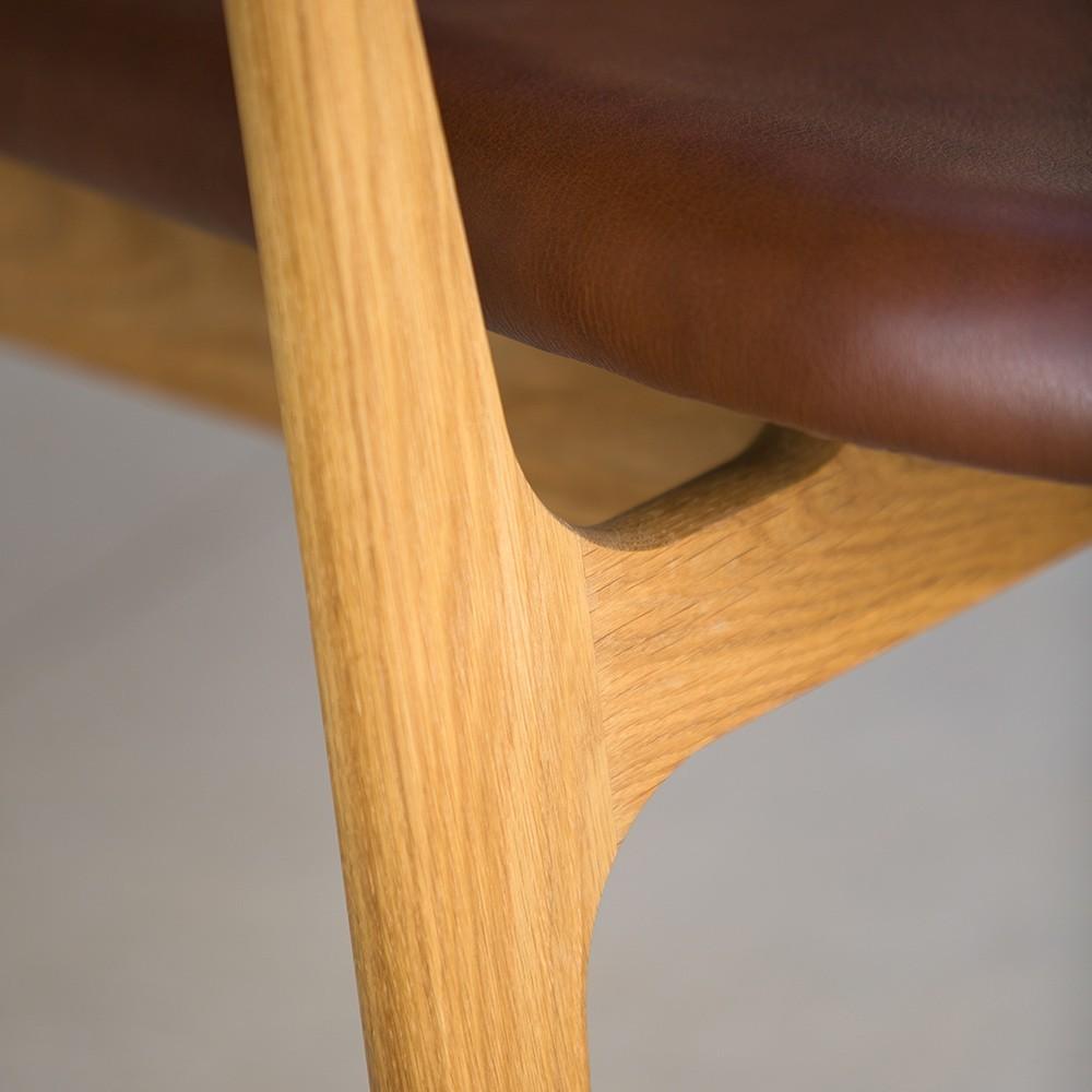 Spän lounge chair in ash & black Camo leather Houe