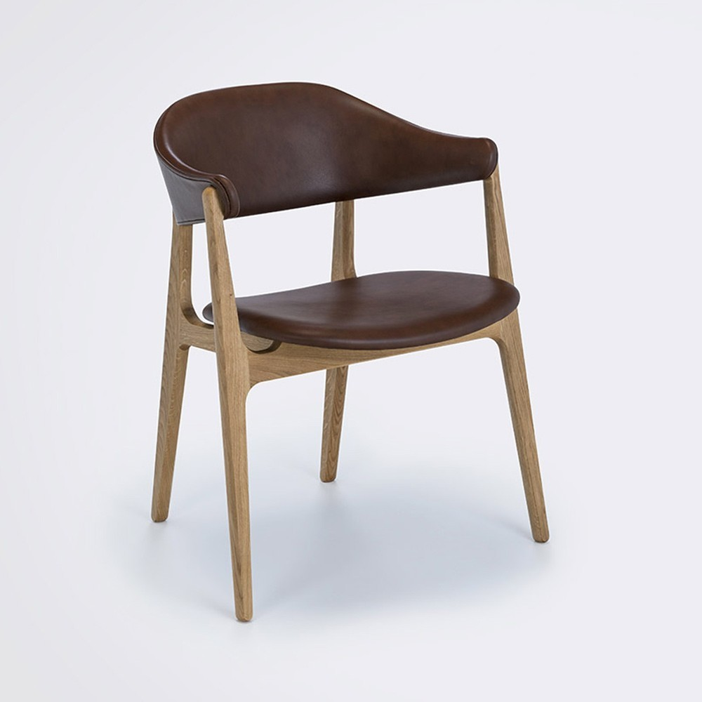 Spän chair cognac leather Houe