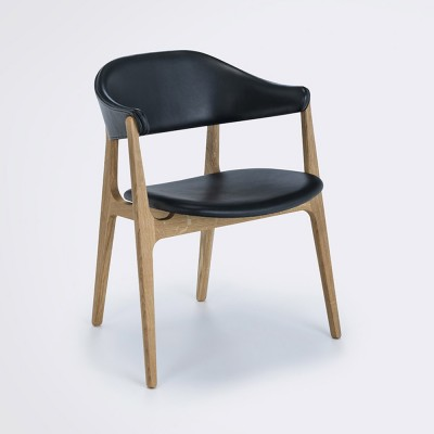 Spän chair black leather Houe