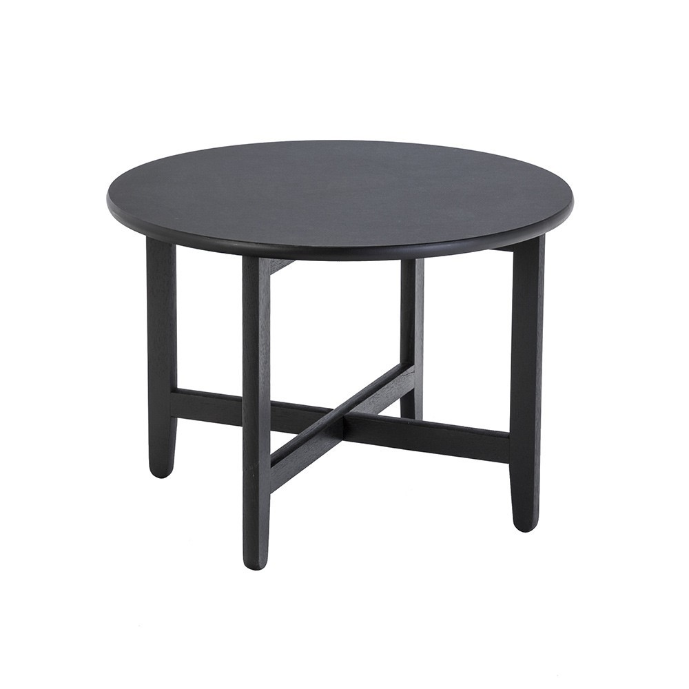 Spän side table black stained oak & linoleum Houe