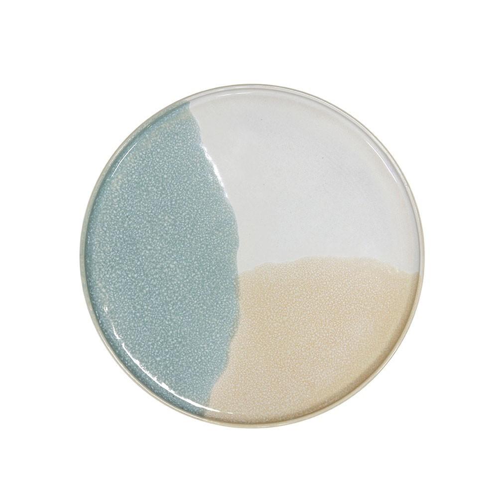 Gallery side plate Ø18,5cm mint & nude HKliving