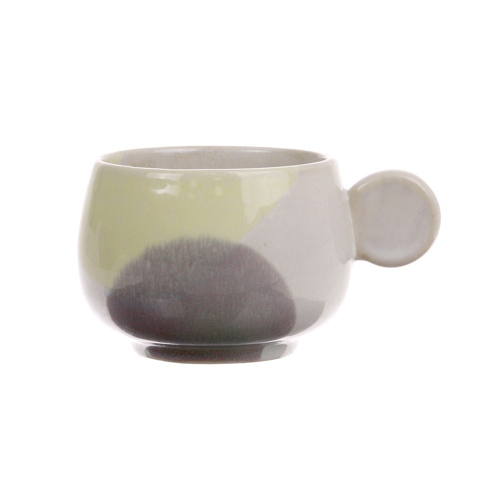 Gallery coffee cup yellow & lilac HKliving