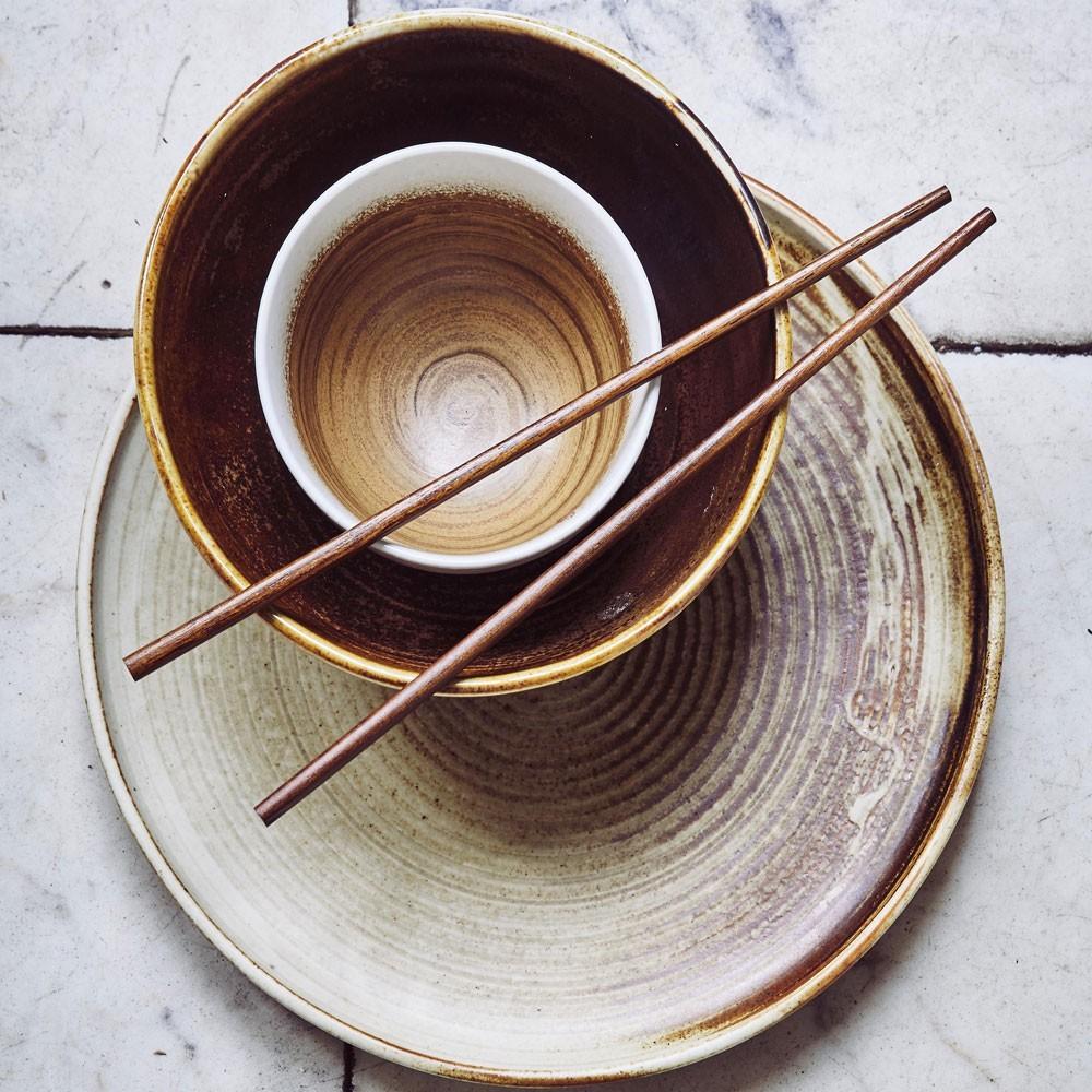 Kyoto schaal bruin & wit (set van 6) HKliving