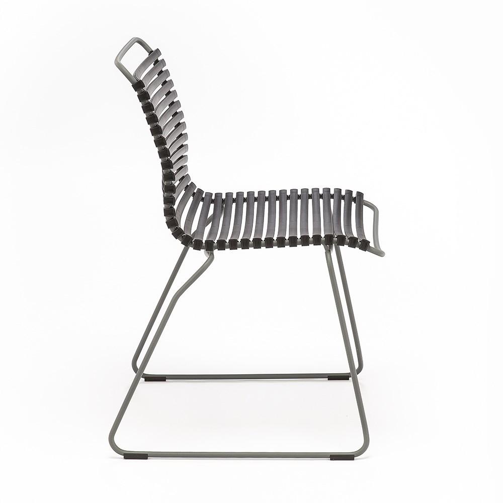 Click stoel stoffig lichtblauw Houe