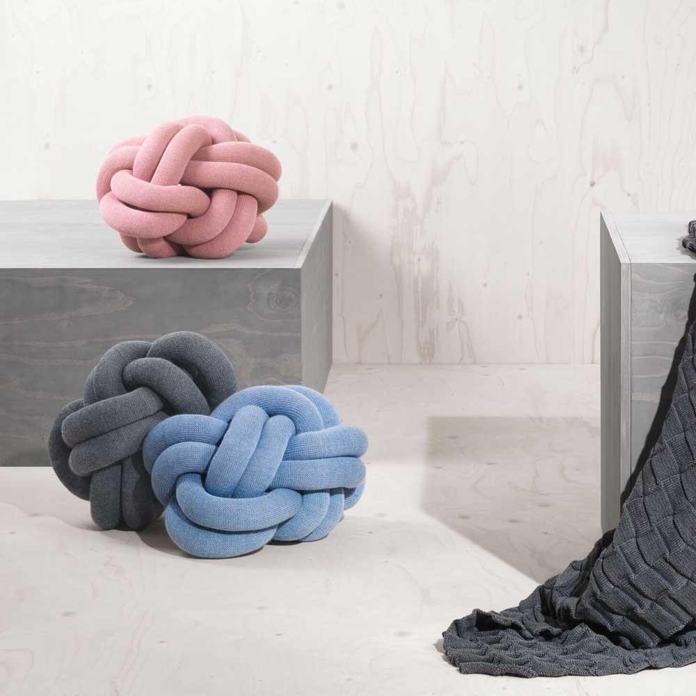 Knot light grey cushion Design House Stockholm