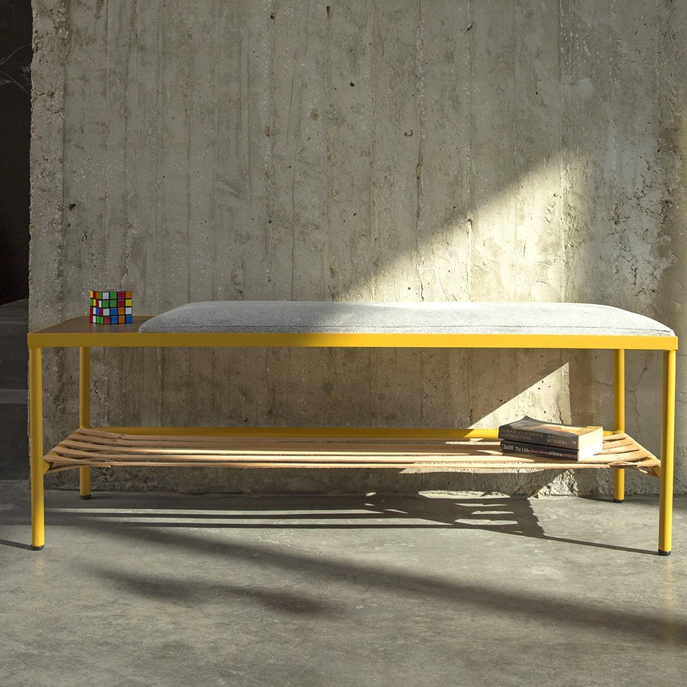 BDC yellow bench Kann Design