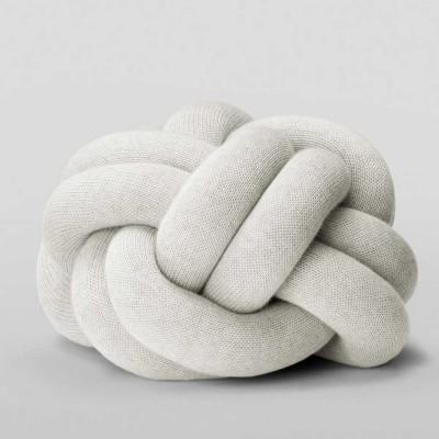 Cuscino nodo grigio chiaro