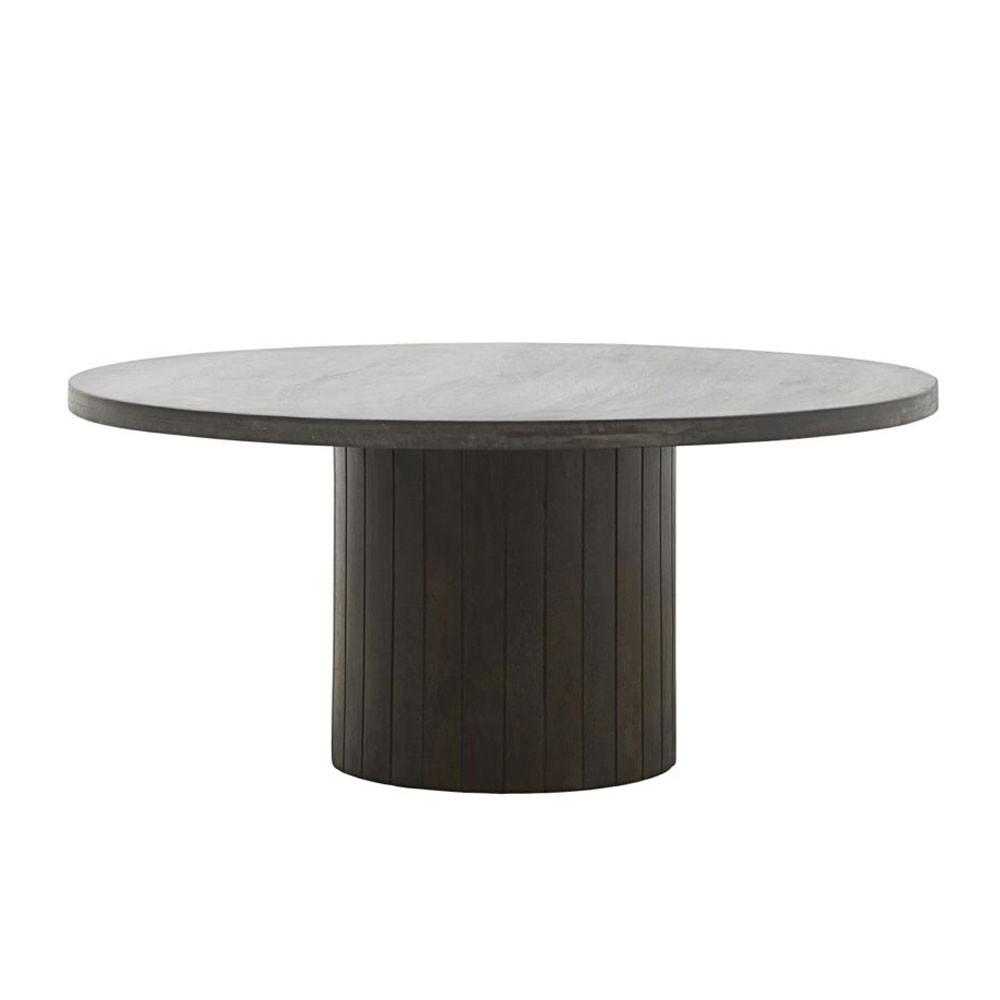 Pillar coffee table black House Doctor