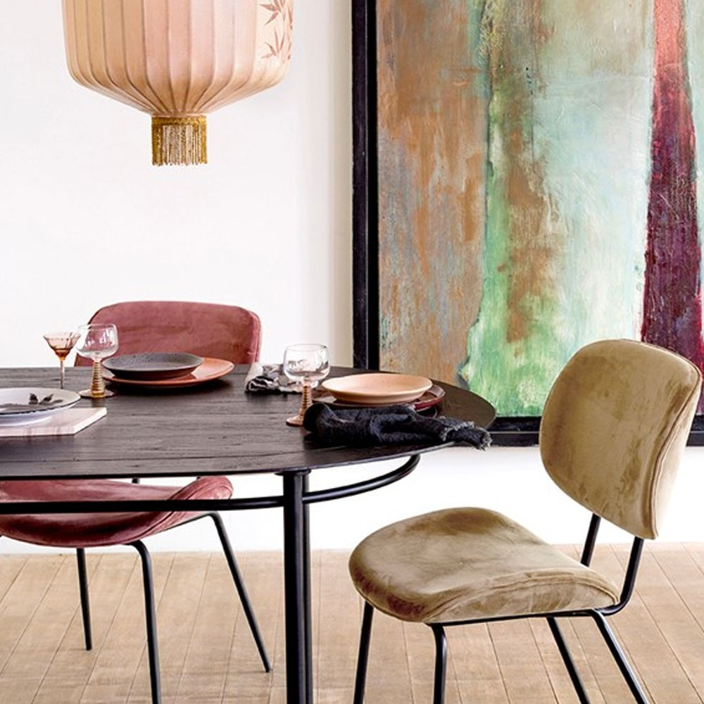 Oval dining table black HKliving