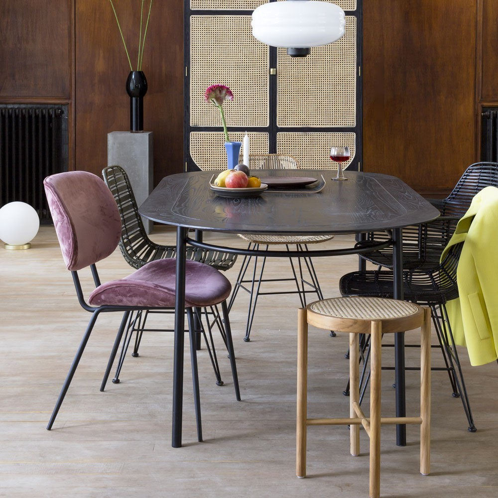 Dining chair velvet old pink HKliving