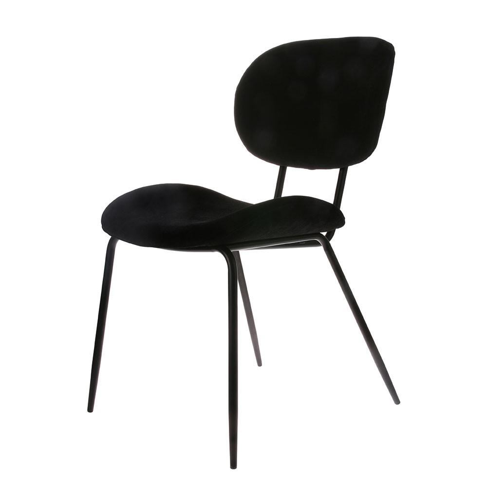 Dining chair velvet black HKliving
