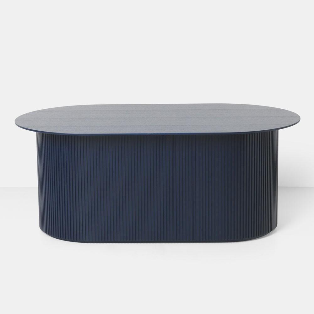 Table basse Podia bleu foncé Ferm Living