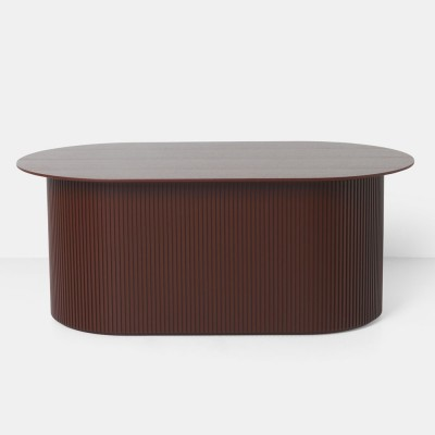 Podia coffee table red & brown Ferm Living