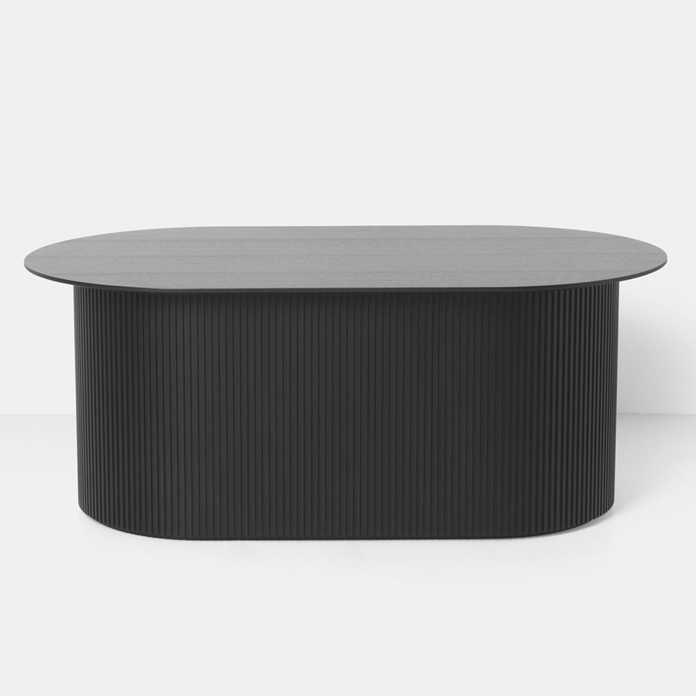 Podia coffee table black Ferm Living