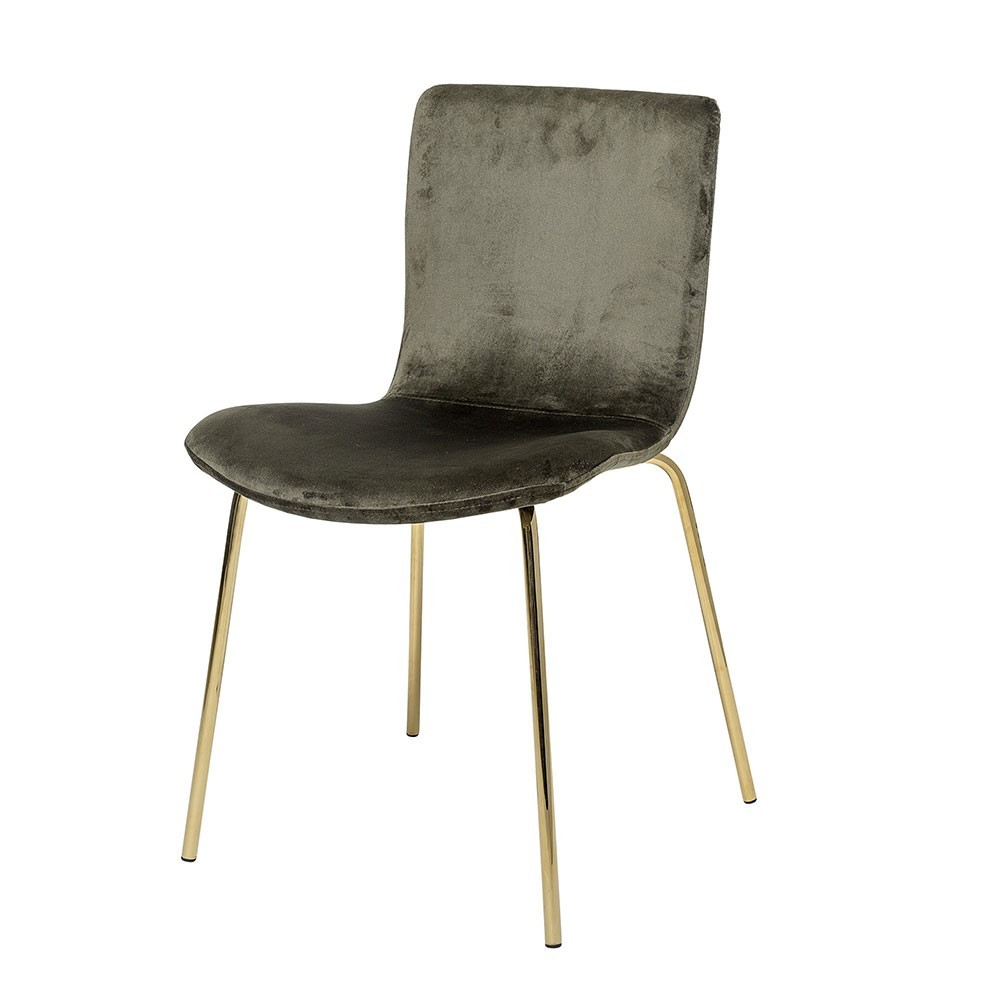Bloom dining chair green velvet Bloomingville