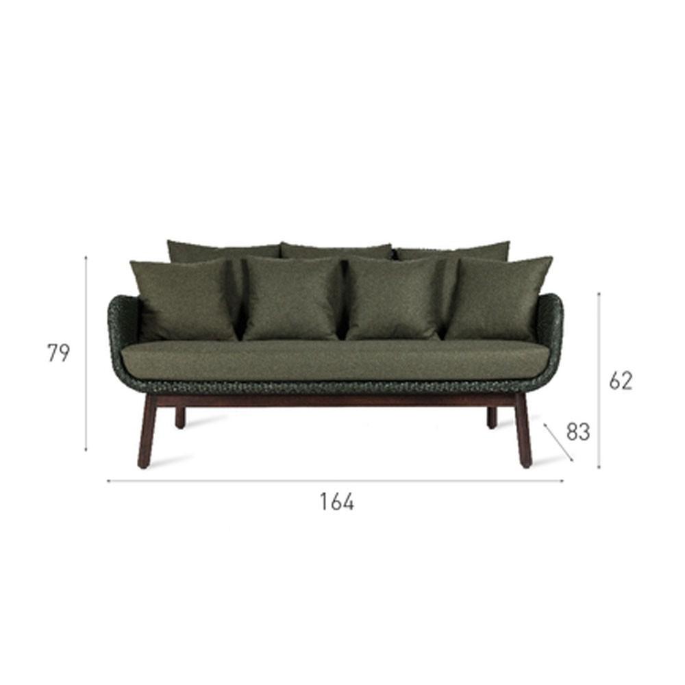 Alex lounge sofa black wood base Vincent Sheppard