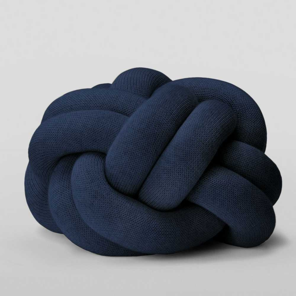 Knot navy cushion Design House Stockholm